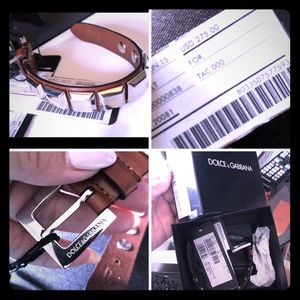 💯 Authentic Dolce & Gabanna Leather Bracelet